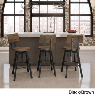 Carbon Loft Kettering Screw Metal and Wood Stool (4 options available)