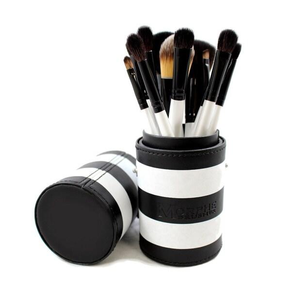 Morphe 706 Black and White 12-piece Travel Brush Set