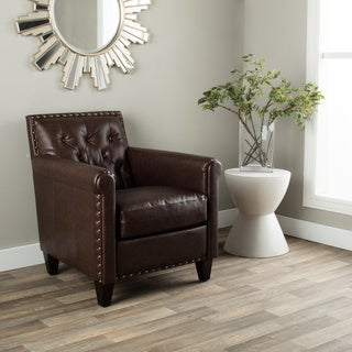 Hazelton Home Byron Armchair In Leather