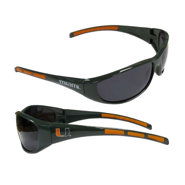 NCAA Miami Hurricans Wrap 3 Dot Sunglasses