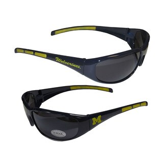 NCAA Michigan Wolverines Wrap 3 Dot Sunglasses