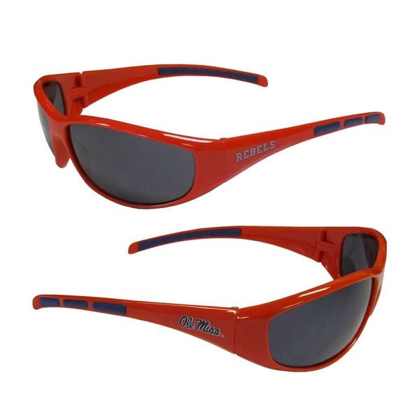 NCAA Ole Miss Running Rebels Wrap 3 Dot Sunglasses