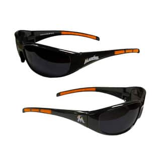 MLB Miami Marlins Wrap 3 Dot Sunglasses|https://ak1.ostkcdn.com/images/products/10693457/P17755501.jpg?impolicy=medium