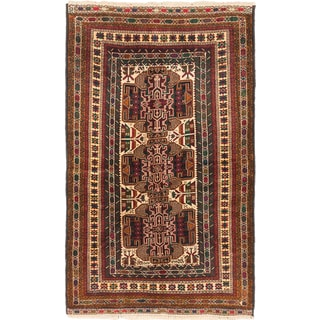 ecarpetgallery Finest Rizbaft Beige/ Red Wool Rug (4' x 6')
