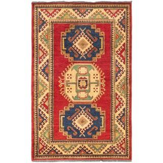 ecarpetgallery Finest Gazni Red Wool Rug (3' x 5')
