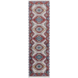 ecarpetgallery Royal Kazak Beige/ Brown Wool Rug (2' x 9')
