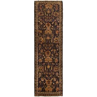 ecarpetgallery Khandahar Finest Black Wool Rug (2' x 9')