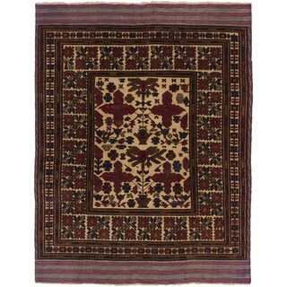 ecarpetgallery Tajik Caucasian Pink/ Yellow Wool Rug (6' x 8')
