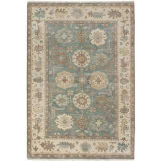 ecarpetgallery Royal Ushak Blue Wool Rug (6' x 8')