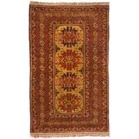 ecarpetgallery Khal Mohammadi Brown/ Red Wool Rug