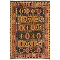 ecarpetgallery Sivas Brown Wool Rug (6' x 9')