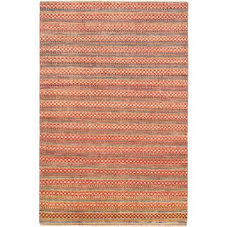 ecarpetgallery Finest Ziegler Chobi Red Wool Rug (5' x 8')