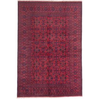 ecarpetgallery Finest Khal Mohammadi Red Wool Rug (6' x 9')