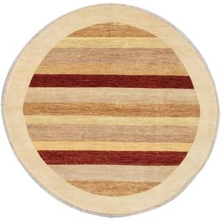 ecarpetgallery Peshawar Ziegler Beige/ Brown Wool Rug (6' x 6')