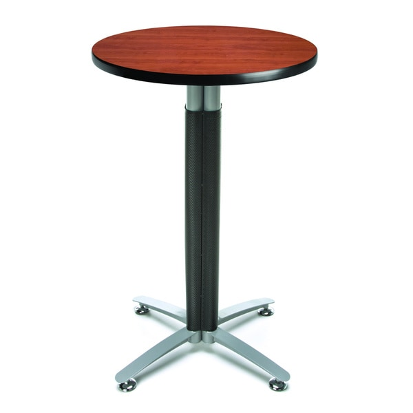 24-inch Round Metal Mesh Base Cafe Table