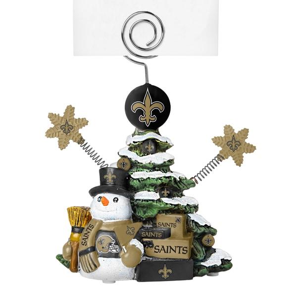 New Orleans Saints Cast Porcelain Tree Photo Holder