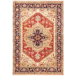 ecarpetgallery Serapi Heritage Brown Wool Rug (4' x 6')