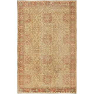 ecarpetgallery Anatolian Sunwash Brown/ Yellow Wool Rug (5' x 9')