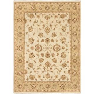 ecarpetgallery Chobi Twisted Beige Wool Rug (6' x 8')