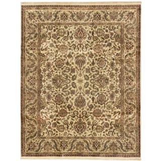 ecarpetgallery Jamshidpour Beige Wool Rug (7' x 9')