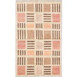ecarpetgallery Peshawar Ziegler Yellow Wool Rug (5' x 8')