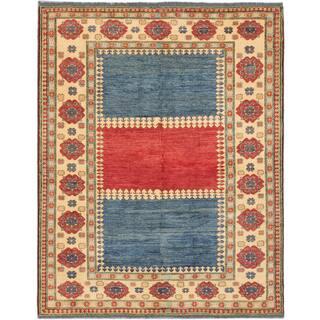ecarpetgallery Finest Gazni Blue/ Red Wool Rug (7' x 8')|https://ak1.ostkcdn.com/images/products/10693632/P17755632.jpg?impolicy=medium