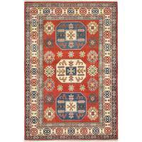 ecarpetgallery Red Finest Gazni Wool Rug (4' x 6')