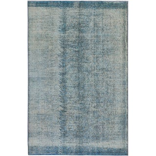 ecarpetgallery Color Transition Blue Wool Rug (5' x 8')
