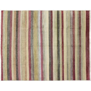 Fine Grass Jahan Red Hand-Knotted Rug (8'9 x 11'6)