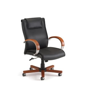 Apex Series Leather Executive Mid-Back Chair