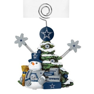 Dallas Cowboys Cast Porcelain Tree Photo Holder