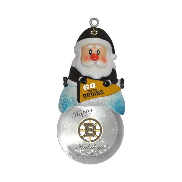 Boston Bruins Santa Snow Globe Ornament