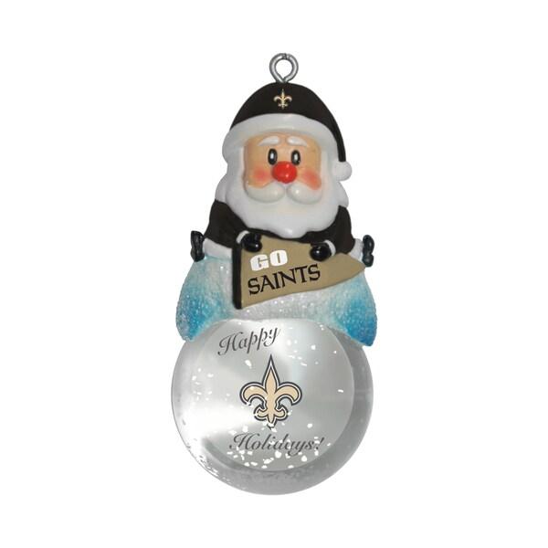 New Orleans Saints Santa Snow Globe Ornament