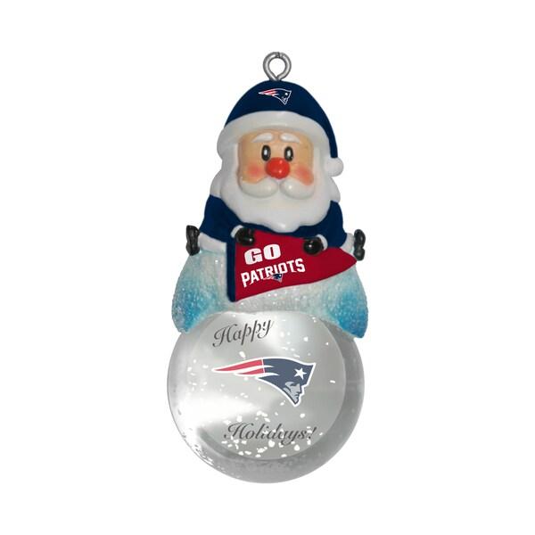 New England Patriots Santa Snow Globe Ornament