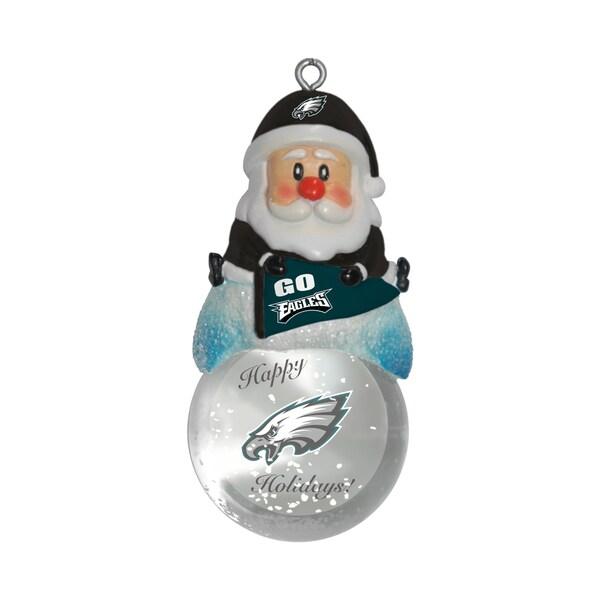 Philadelphia Eagles Santa Snow Globe Ornament