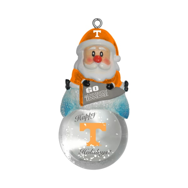 Tennessee Volunteers Santa Snow Globe Ornament