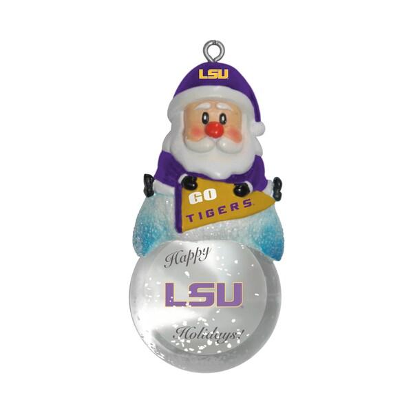 LSU Tigers Santa Snow Globe Ornament