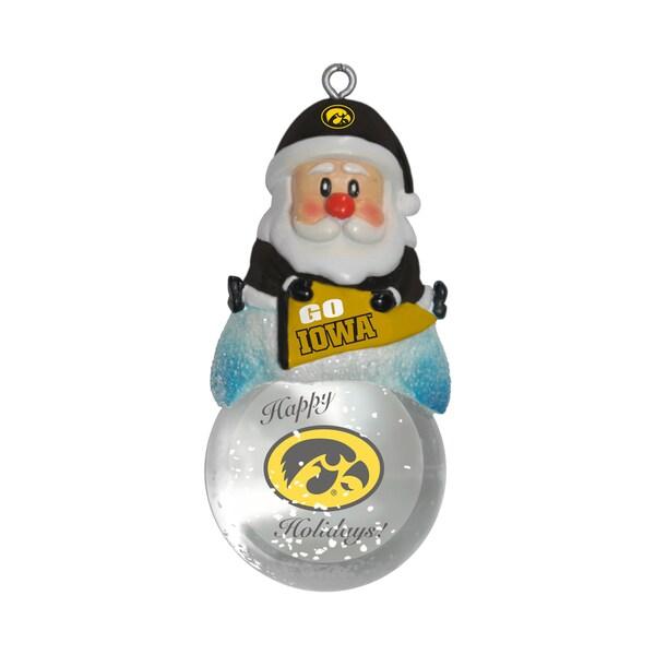 Iowa Hawkeyes Santa Snow Globe Ornament