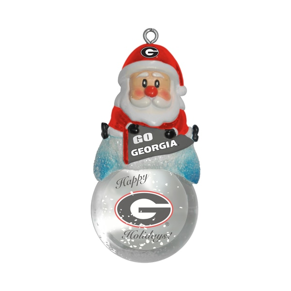 Georgia Bulldogs Santa Snow Globe Ornament