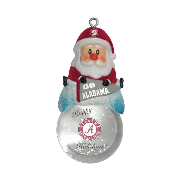 Alabama Crimson Tide Santa Snow Globe Ornament