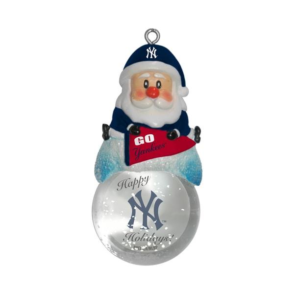 New York Yankees Santa Snow Globe Ornament