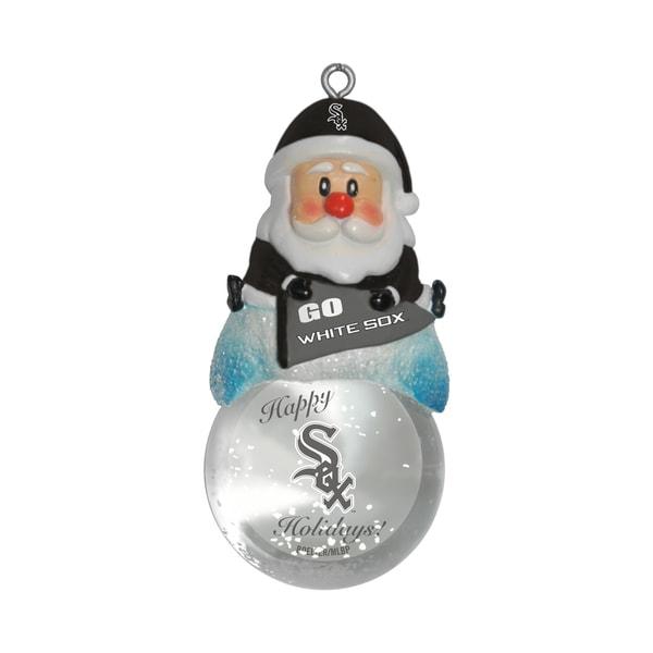 Chicago White Sox Santa Snow Globe Ornament