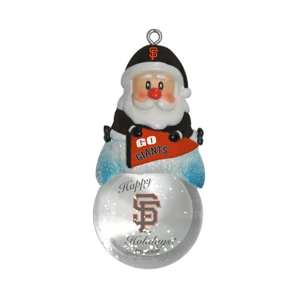San Francisco Giants Santa Snow Globe Ornament