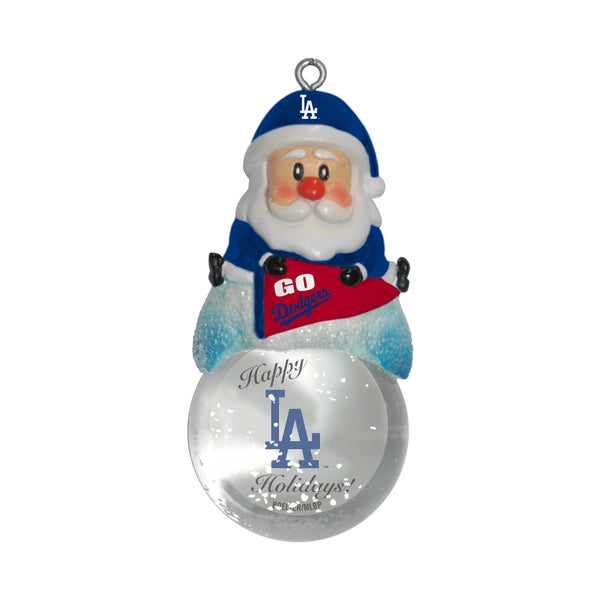 Los Angeles Dodgers Santa Snow Globe Ornament