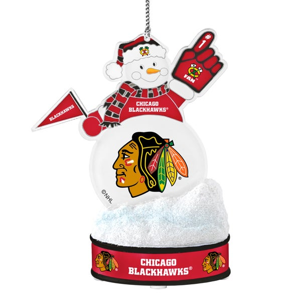 ChicagoBlackhawks LED Snowman Ornament