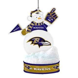 Baltimore Ravens LED Snowman Ornament