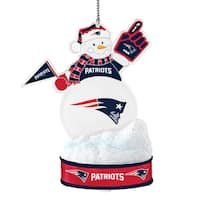 New England Patriots LED Snowman Ornament