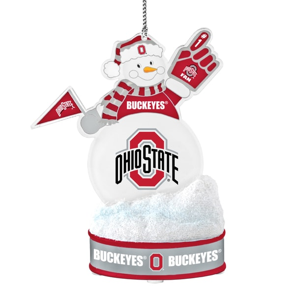 Ohio State Buckeyes LED Snowman Ornament