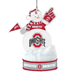 Ohio State Buckeyes LED Snowman Ornament