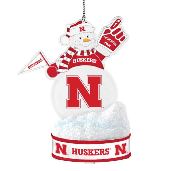 Nebraska Cornhuskers LED Snowman Ornament